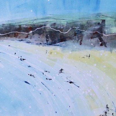Polzeath 2 Monoprint