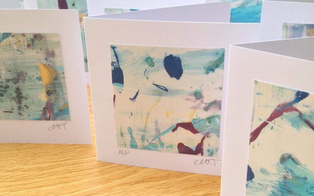 Mono Print Art Cards