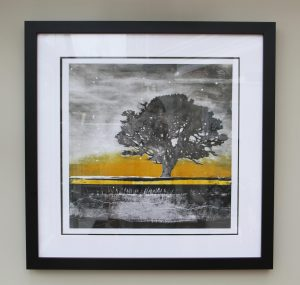 Great Oak Monoprint - Julie turner