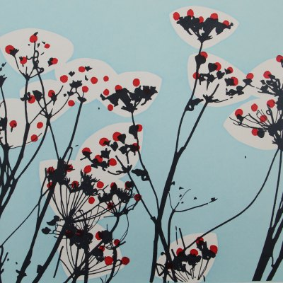 Cow Parsley Green Blue