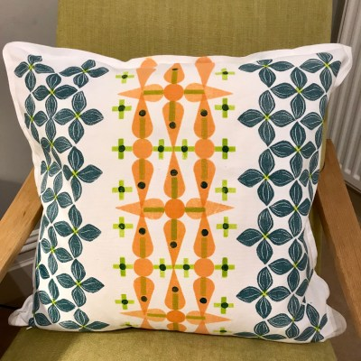 Block printed cushion © Julie Turner