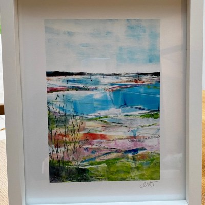 small white framed giclee