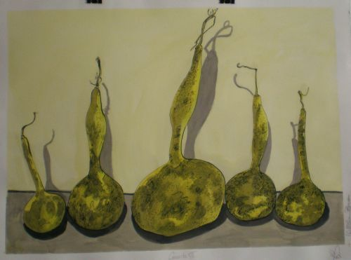 Gourds Seven( Ink on Paper)