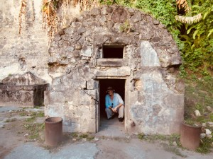 me crouching in the doorway of sylbaris's cell