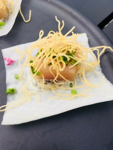 albacore tuna on radish taco from 1909 kitchen
