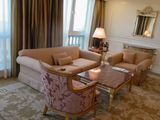 the living room of our suite