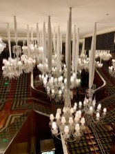 the baccarat chandeliers form the pre renovated hotel