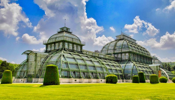 the palmenhaus greenhouse at schonbrunn