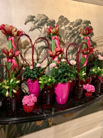 gorgeous flowers in the lobby of The Goring