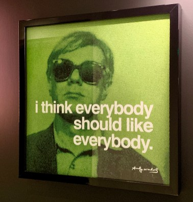 Andy Warhol inspiration at the Bisha
