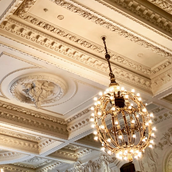 the incredible ceiling at The London Edition