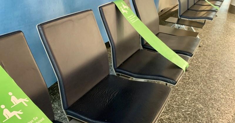 seat spacing, Frankfurt airport