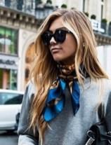stylish in a Hermès scarf