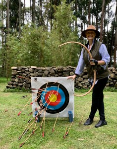 archery at Gorilla's Nest, Rwanda