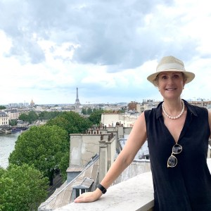me on the terrace of the new Cheval Blanc, Paris