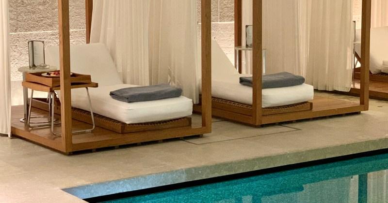 the pool at the Bulgari London