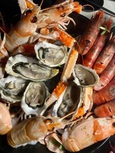 raw seafood at SushiBar
