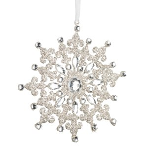 Vickerman 7 inch Glitter Snowflake Diamond Ornament E170201