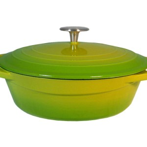 Light Enamel Cast Iron Casserole 2 3/4-quart. Palm FCA24-L002-G2T
