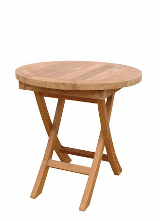 Anderson Teak Bahama 20 inch Mini Side Round Folding Table TBF-020R