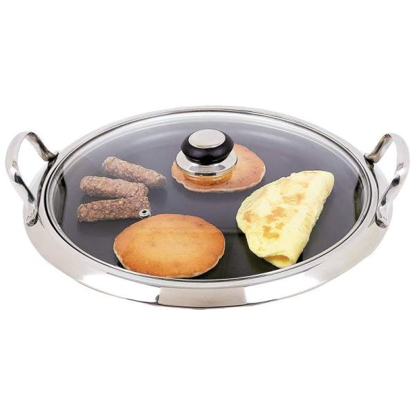 Chef's Secret by Maxam 12-Element Stainless Steel Round Griddle KTGRID2G