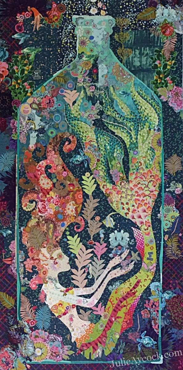 Sirene Mermaid In A Bottle Collage Quilt Pattern By Laura Heine ... History <b>History.</b> Sirene Mermaid in a Bottle Collage Quilt Pattern by Laura Heine ....</p>