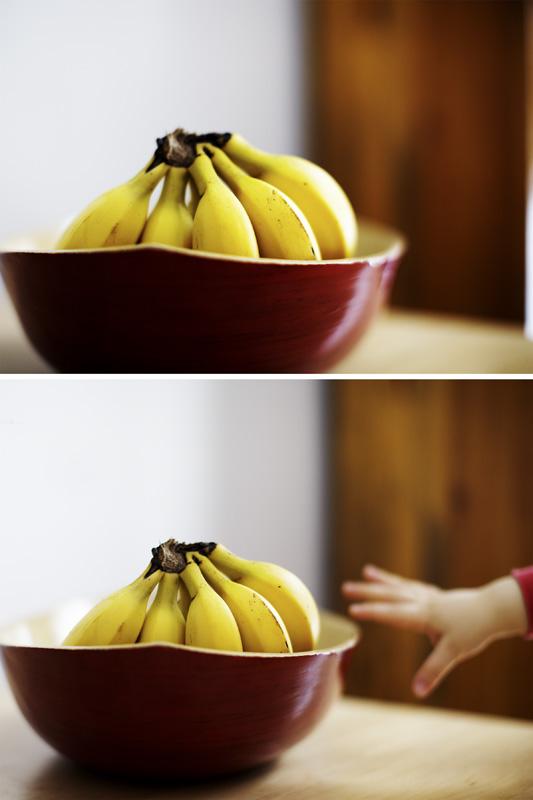 Les bananes et la petite main