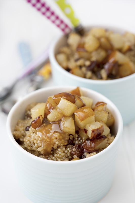 Collation santé quinoa-pore