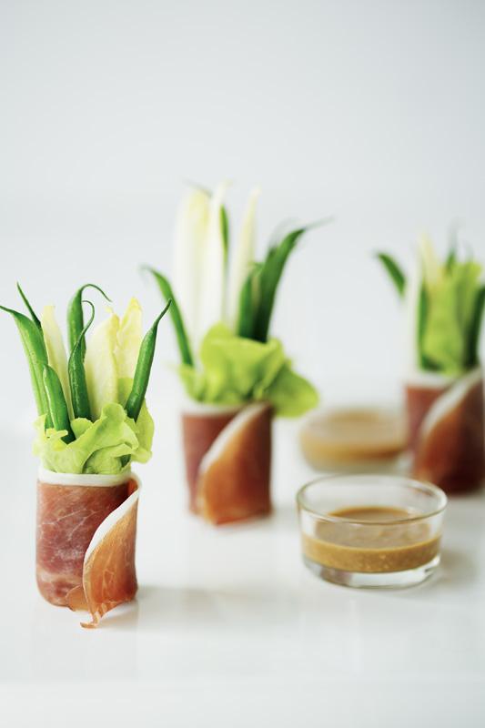 Bouquet de haricot proscuito