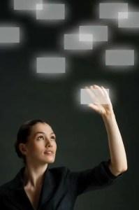 Woman making purposeful choice