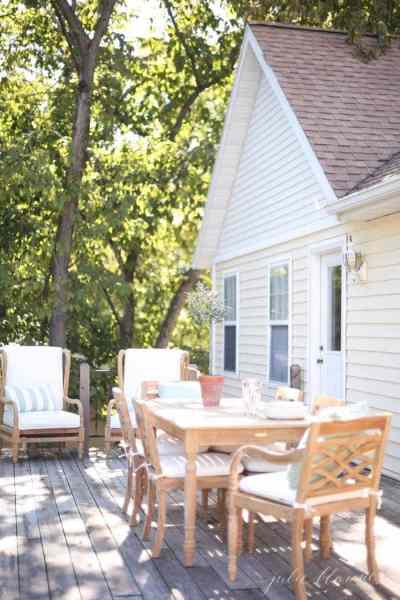 cottage style outdoor patio furniture Timeless Wood Patio Furniture for the Lake Cottage