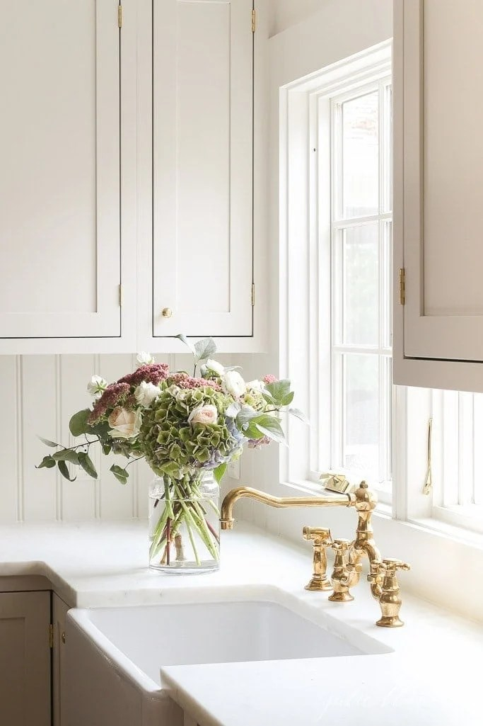 unlacquered brass kitchen faucet aka