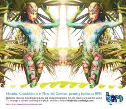 1-2015 model for Bodypainting - NK painting at Playa del Carmen / Mexico 2015