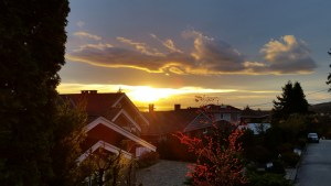Sunset over North Vancouver