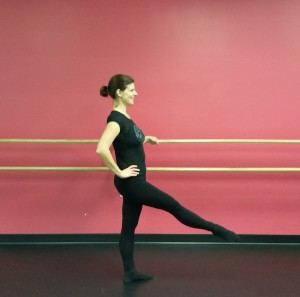 Healthy, strong and enjoying ballet class