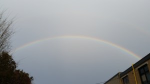 A rainbow after a thunderstorm in December