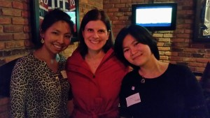 Yulena, Julie and Alyssa at the Hamilton Hive event