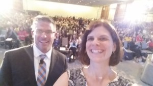 Selfie from the stage with Dr. Brian Dixon