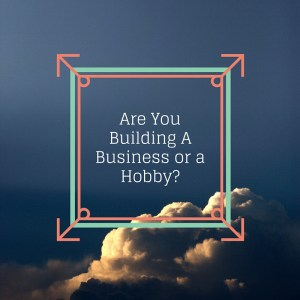 Are You Building A Business or a Hobby-