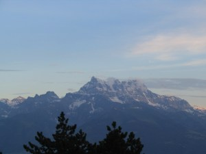 The majestic view from Leysin, Switzerland