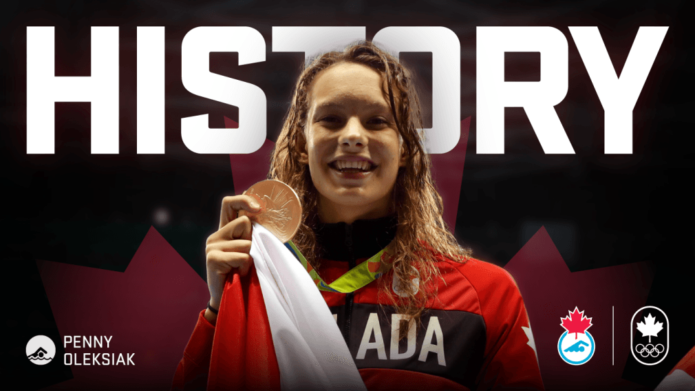 Olympic History for Canadian Swimmer Penny Oleksiak!