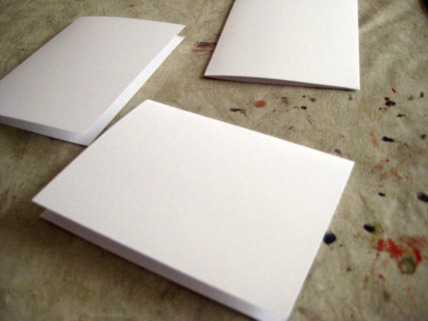 put a crease in blank cards