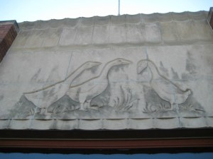 geese above the west door