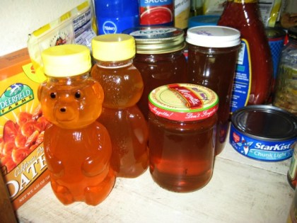 honey in juliecache's pantry