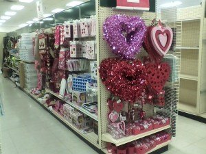 displays of valentine merchandise before christmas is wrong