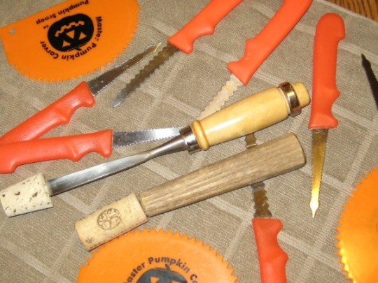 carve pumpkins with special tools