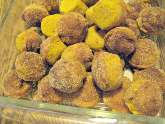 pumpkin donut holes small