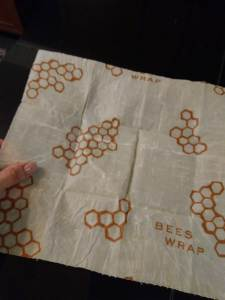bees wrap with visible fold lines