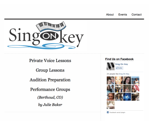 Sing On Key Website