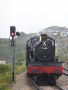 Steam train in Devon